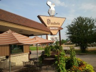 Daube's Bakery also includes a lovely patio!